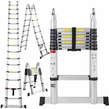 16.5 Ft Telescopic Ladder Telescoping A-Type Extension Multi Purpose 16-Steps