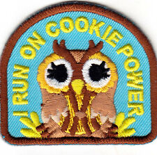 """I RUN ON COOKIE POWER""  - COOKIES - FOOD - DESSERT - IRON ON EMBROIDERED PATCH"