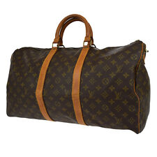 AUTHENTIC LOUIS VUITTON KEEPALL 50 HAND BAG MONOGRAM LEATHER BROWN M41426 66W054