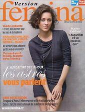 version femina n°379 marion cotillard  2009