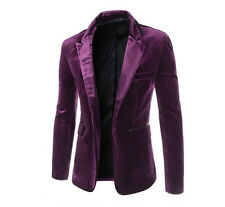 New Mens Casual Slim Fit Blazer Suit Jackets Formal Party Coat Tops Outwear XS-L