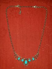 CAROLYN POLLACK RELIOS SLEEPING BEAUTY TURQUOISE SCROLL NECKLACE CR 925 CP S/O