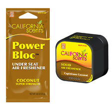 California Scents CUBE + POWER BLOC Car Home Air Freshener Set - COCONUT
