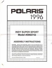 1996 POLARIS INDY SUPER SPORT ASSEMBLY SET UP MANUAL (849)