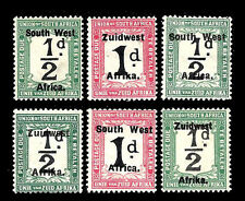 SOUTH AFRICA. Postage Due Stamps. Overprinted. 1924. MLH (BI#23)