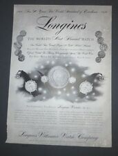 Original Print Ad 1956 LONGINES World's Most Honored Watch 90th