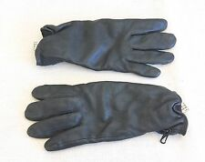 British Army-Issue Black Leather Gore Tex Combat Gloves. Size 9.