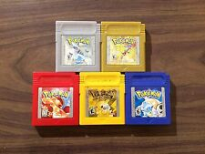 Pokemon Red+Yellow+Blue +Gold+Silver (Game Boy Color) NEW BATTERIES - Poor shape