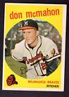 1959 Topps #3 Don Mcmahon Milwaukee Braves EX Plus to EX-MT