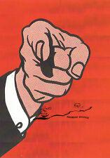 Kunstpostkarte - Roy Lichtenstein.  Finger Pointing