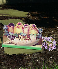 Vintage Easter Die Cut ~ Easter Chicks Wood Table Decoration