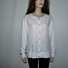 Gorgeous Ted Baker Lace White Cardigan Sweater Size 12 US, TB size 5
