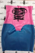 Corset Skirt *New Collection* size 12 PS Blue/Fuchsia RUBBER Latex Slight second