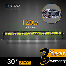 26Inch 120W LED LIGHT BAR FLOOD SPOT OFFROAD DRIVING LAMP 4WD SK 120W 144W