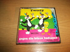Tweety gegen die bösen Indianer - Piccolo Super 8 Film SW / Stumm ca. 17m