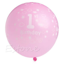 20/100Pcs Baby First 1st Birthday Ballons Boy Girl Printed Number 1 Party Decor