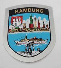 ADESIVI Hansestadt Hamburg STEMMA souvenir AUTO STICKERS ADESIVO Caravan