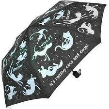 Everyday Raining Cats & Dogs Folding Umbrella Quirky Print