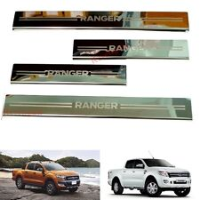 4 DOOR SILL SCUFF PLATE FOR FORD RANGER RAPTOR PICKUP 2012 2013 2014 2015 2016