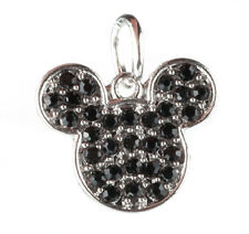 925 Silver Cartoon black CZ Charm Beads Fit European Charm Bracelet Pendant U371