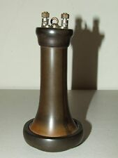 Antique Brown Phone Receiver Outside Terminal Candlestick or Wall Telephone Part