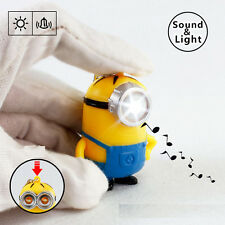 Minions Movie Despicable Me Sound and LED Light Keychain Gift