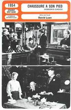 CHAUSSURE A SON PIED - Laughton,Mills,Lean (Fiche Cinéma) 1954 - Hobson's Choice