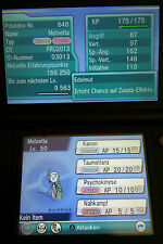 Meloetta Original Event Pokemon for Pokemon ORAS X Y - fast Transfer! 4+1 free