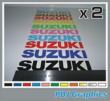 2 x SUZUKI Vinyl Decals / Stickers - ANY COLOUR - Bellypan / Tank etc.