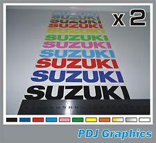 2 x SUZUKI Vinyl Decals / Stickers - ANY COLOUR - Bellypan / Tank etc.