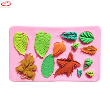 3D Leaves Silicone Cake Decorating Moulds Candy Cookies Chocolate Baking Mold