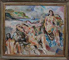 Jules Schyl 1893-1977 , weibliche Akte am Meer, um 1950/60