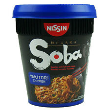 NISSIN SOBA YAKITORI CHICKEN POT NOODLES - 8 CUPS