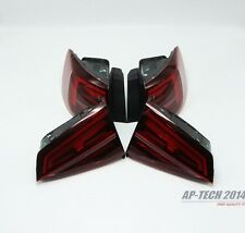4Pcs LED Tail Lights Tail Lamps Taillights+Cable Dark For VW Jetta MK6 GLI 15-17