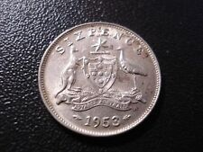 Australian 1953 Sixpence High Grade Luster Coin SW#1