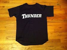 vintage 1 size Thunder baseball jersey Black Polyester shirt Sports Embroidered