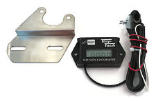 Tiny Tach 8' Cable Digital Hour Meter Tachometer w Bracket Adjustable Resettable