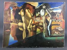 """Vintage Surreal After Dali """"Aftermath of Narcissus"""" Signed Copy Unknown Artist"""