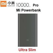 Original New Xiaomi 10000mAh Pro Grey Powerbank Slimmer External Battery Charger