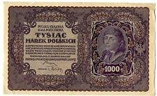 BILLET POLOGNE POLAND POLSKA 1000 ZLOTYCH 1919 Photo non contractuelle