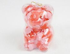 Teddy Bear Shape Bath Soap Ornament w/Pink & Red Confetti, Light Floral Scented