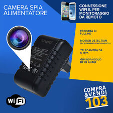Alimentatore Spia Wifi Camera Spy Spina Sos telecamera Segreta motion detection