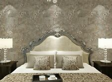 Antique Vintage Textured Floral Wallpaper Retro Blossom Trail Wall Paper For Bed