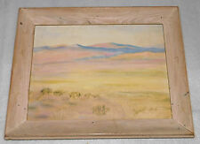 "Landscape Mountain Field Canvas Oil Painting Large Wooden Frame 20"" x 15"""