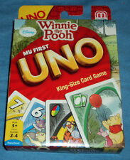 My First Uno King Size Card Game Winnie The Pooh, And Friends Disney Mattel New