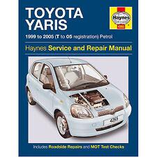 Haynes Toyota Yaris 1999 al 2005 T A 05 REG BENZINA servizio e riparazione manuale