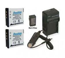 2 NP-50 Batteries + Charger for Fuji FujiFilm F50fd F50SE F60FD F70EXR F72EXR