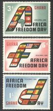 Ghana 1960 Africa Freedom Day/National Flags/Map 3v set (n39593)