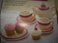 Toy tea set & cupcake knitting pattern