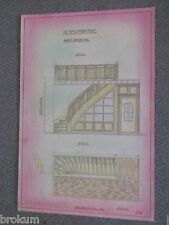 1956 Architectural School Drawing - Dutch Staircase Design  - A-2